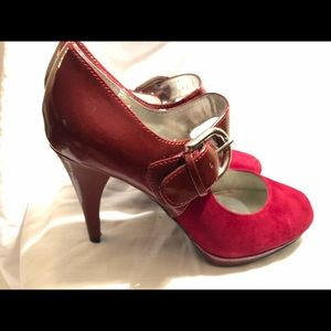 Style & Co Red Mary Jane Heeled Pumps NWOT Sz 6.5